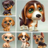 "5D DIY  Full Square/ Round  Drill Diamond Painting ""Cartoon big eyed dogs"" - Scrap n Patch"