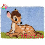"Latch hook DIY rug kit ""Bambi"" approx 50x35cm"