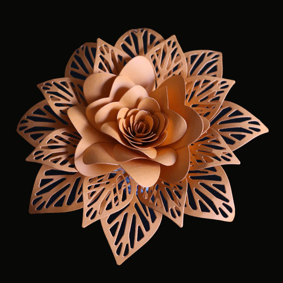 3D Flowers Leaves Stencil Metal Cutting Dies Scrapbooking
