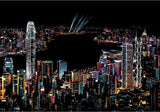 DIY City Night Scratch Art Painting World Landscapes
