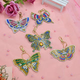 5pcs Special Shaped 5D Full Round DIY  Painting Key-chain Kits Butterfly/Love Heart - Scrap n Patch