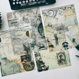 Vintage World Material Paper Set for Scrapbooking DIY Projects