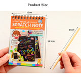 1PC Scratch Notebook  Creative DIY Scratch Painting suit all ages >3
