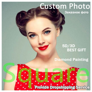 "5D DIY Diamond Painting Kits -Full Square / Round Drill ""Custom! Private Photo 5D """