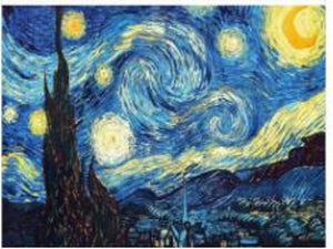 "5D Diamond embroidery cross stitch full square ""Van Gough - Starry Night"""