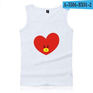 Kawaii Cartoon Hip Hop Cotton Tank Top - Wear 4 Life