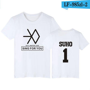 Short Sleeve T-Shirt Women Funny Summer Style - Best EXO T-Shirts