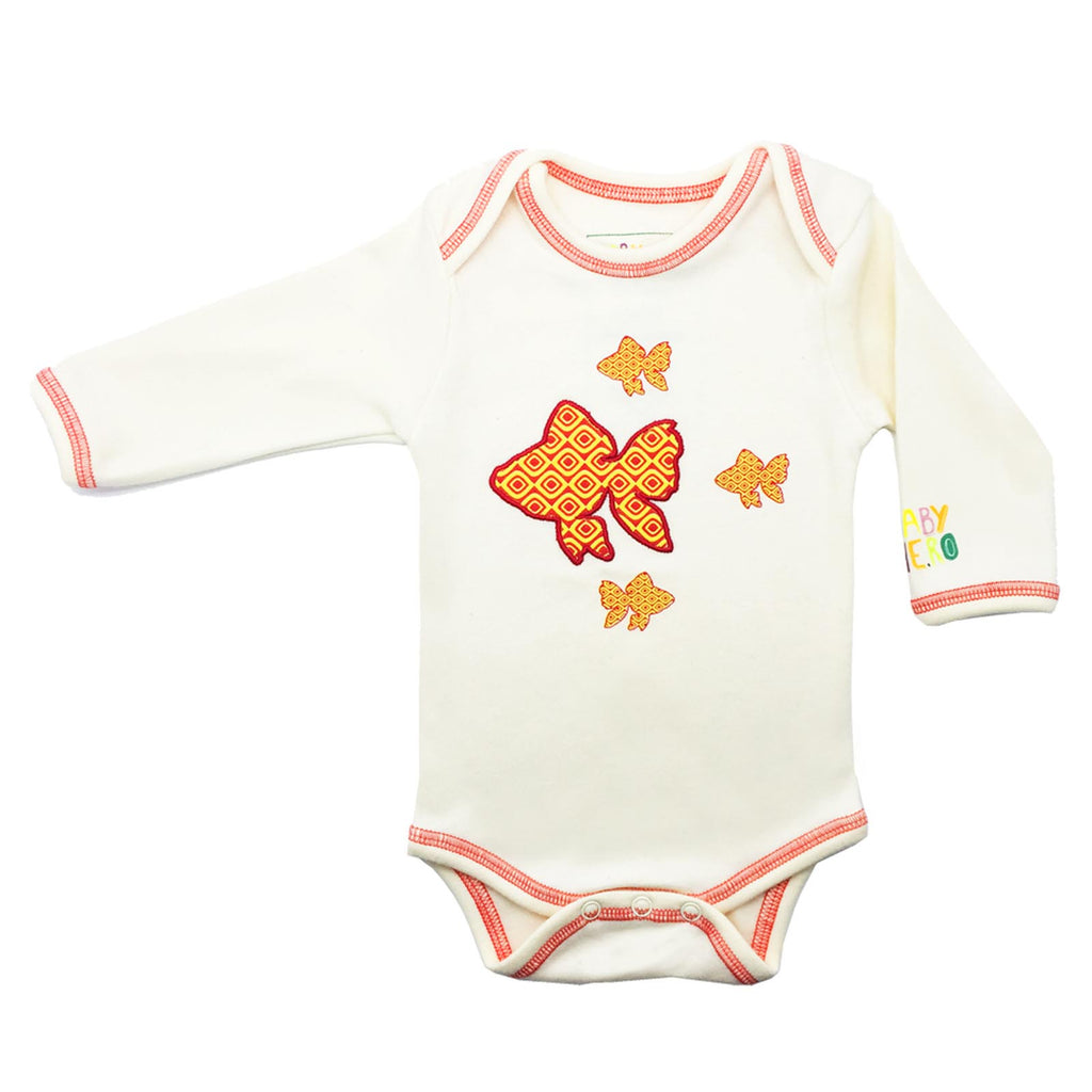 Goldfish Onesie - Long Sleeve Orange