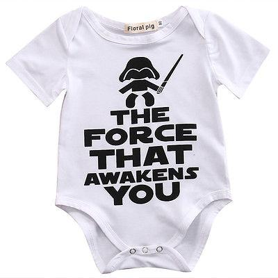 """Force that Awakens You"" Unisex Cotton Playsuit"