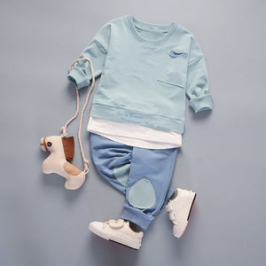 2Pcs Toddler Baby Boys Outfit (T-Shirt + Pants)