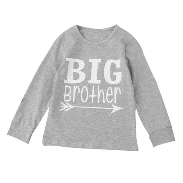"""Big Brother"" Boys Long Sleeve Cotton T-Shirt"