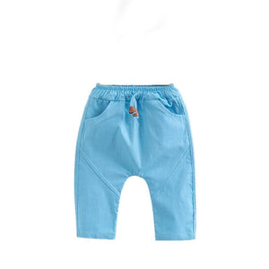 Unisex Plain Toddler Linen Pants