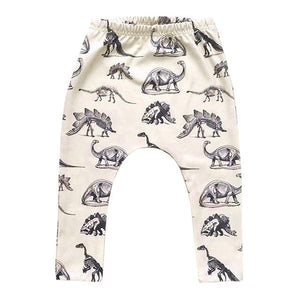 Boys Dinosaurs Elastic Long Pants