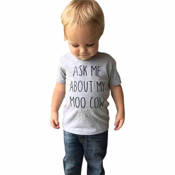 Boys Short Sleeve Moo Cow T-Shirt