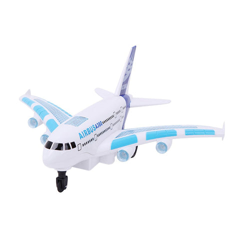 A380 Remote Control Aircraft Boys Airbus Toy Airplane Model Colorful Lights Music Electric Airplane Early Educational Toy