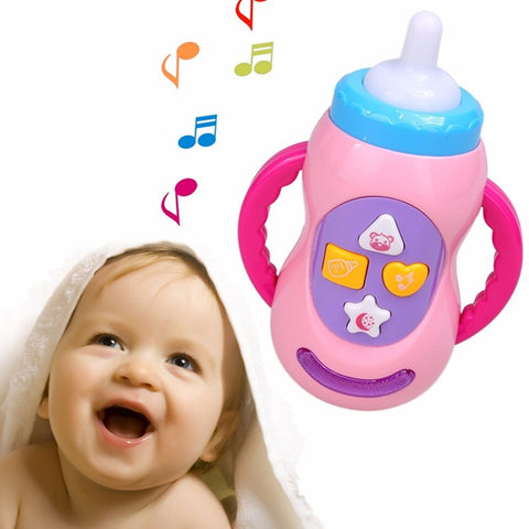 LED Learning Milk Bottle with Sound