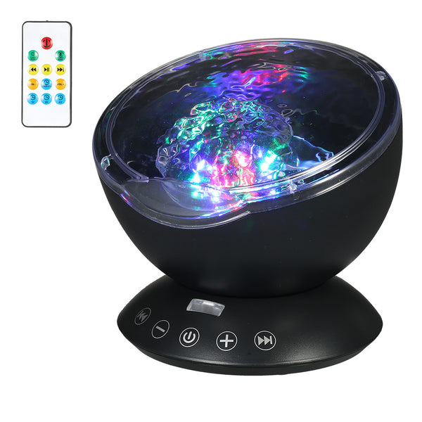 Colourful Night LIght/Sleep Soother Lamp with Wave Projection & Music Player