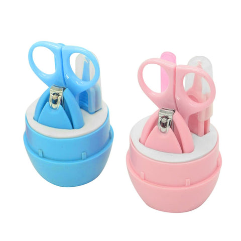 4PCS Baby Nail Scissors Set Cute Nail Clippers Trimmer Newborn Baby Nail Safety Scissors Nail Care Suit Baby Care Products