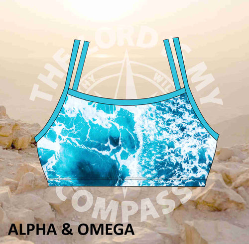 Alpha And Omega The Lord is my Compass  Bikini Top
