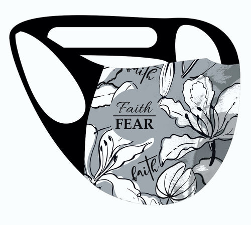 ALPHA & OMEGA Ultimate Comfort Reusable Face Mask Faith Over Fear