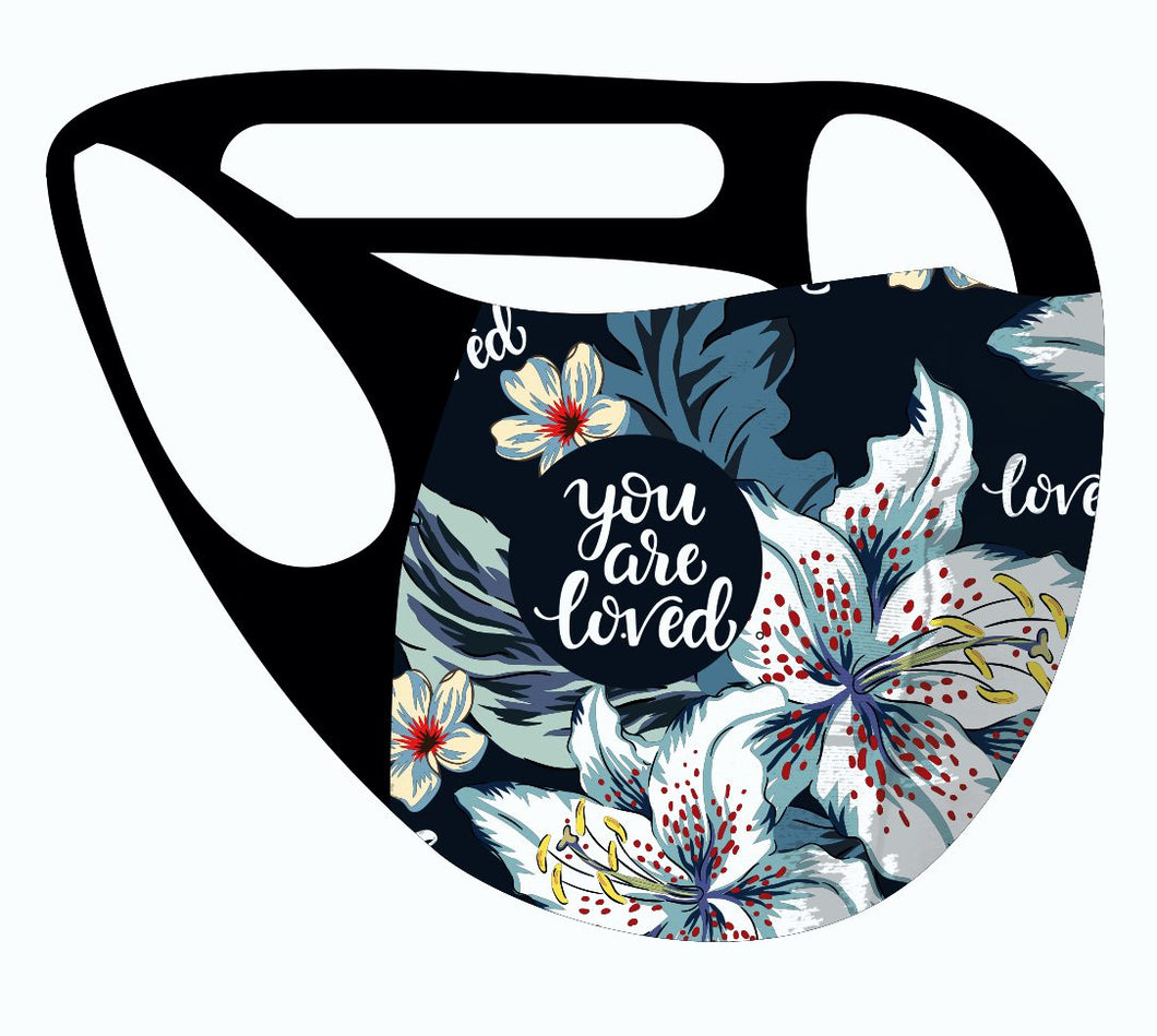 ALPHA & OMEGA Ultimate Comfort Reusable Face Mask Lilly Love