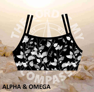 Alpha And Omega Believe  Trailing Leaf Bikini Top