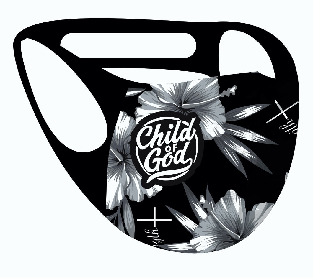 ALPHA & OMEGA Ultimate Comfort Reusable Face Mask Child of God