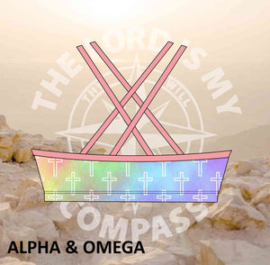 Alpha And Omega Pastel Christian Crosses Bikini Top