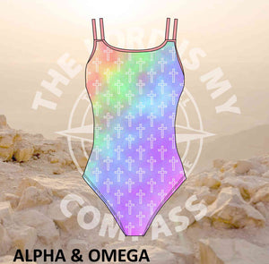 Alpha And Omega Pastel Christian Crosses Full Costume