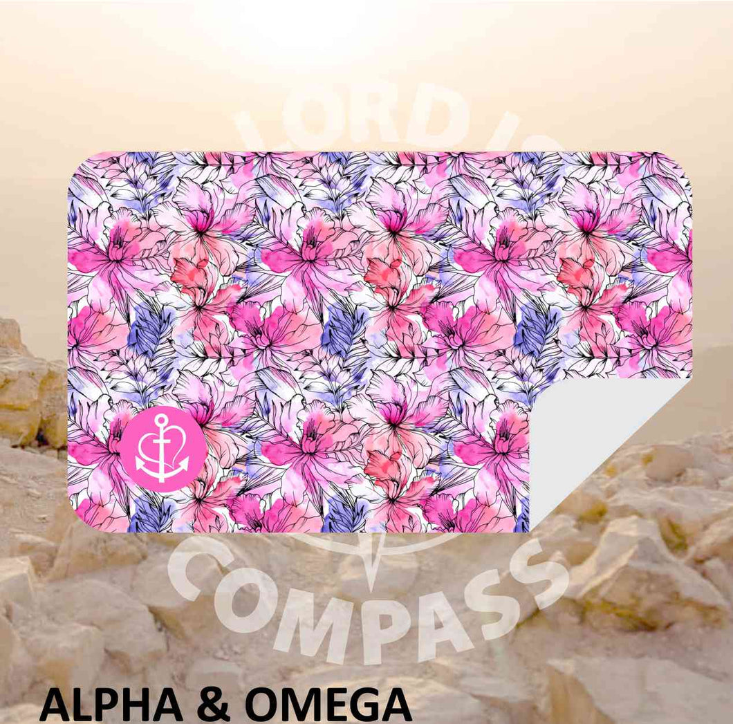 Alpha And Omega  Floral Faith  Microfiber Towel