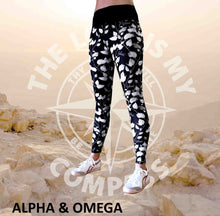 Alpha And Omega Believe Trailing Leaf Print Athleisure Tights