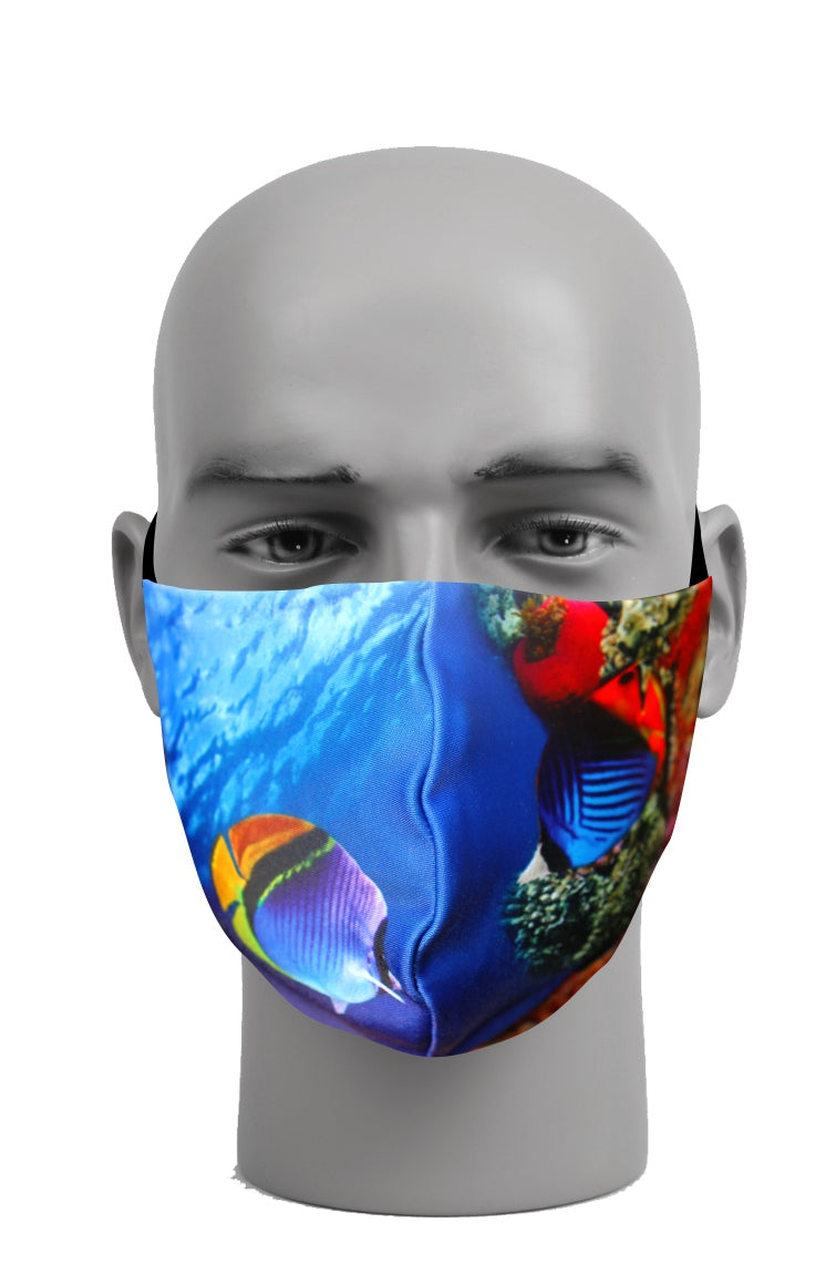 Ultimate Comfort Reusable Face Mask Coral Reef