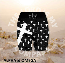 Alpha And Omega Christian Cross Athleisure Short Tights