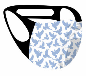 Ultimate Comfort Reusable Face Mask Dove Print