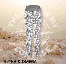 Alpha And Omega Faith Over Fear Print Athleisure Tights