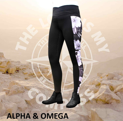 A&O Child Of God Hibiscus  Equestrian Tights