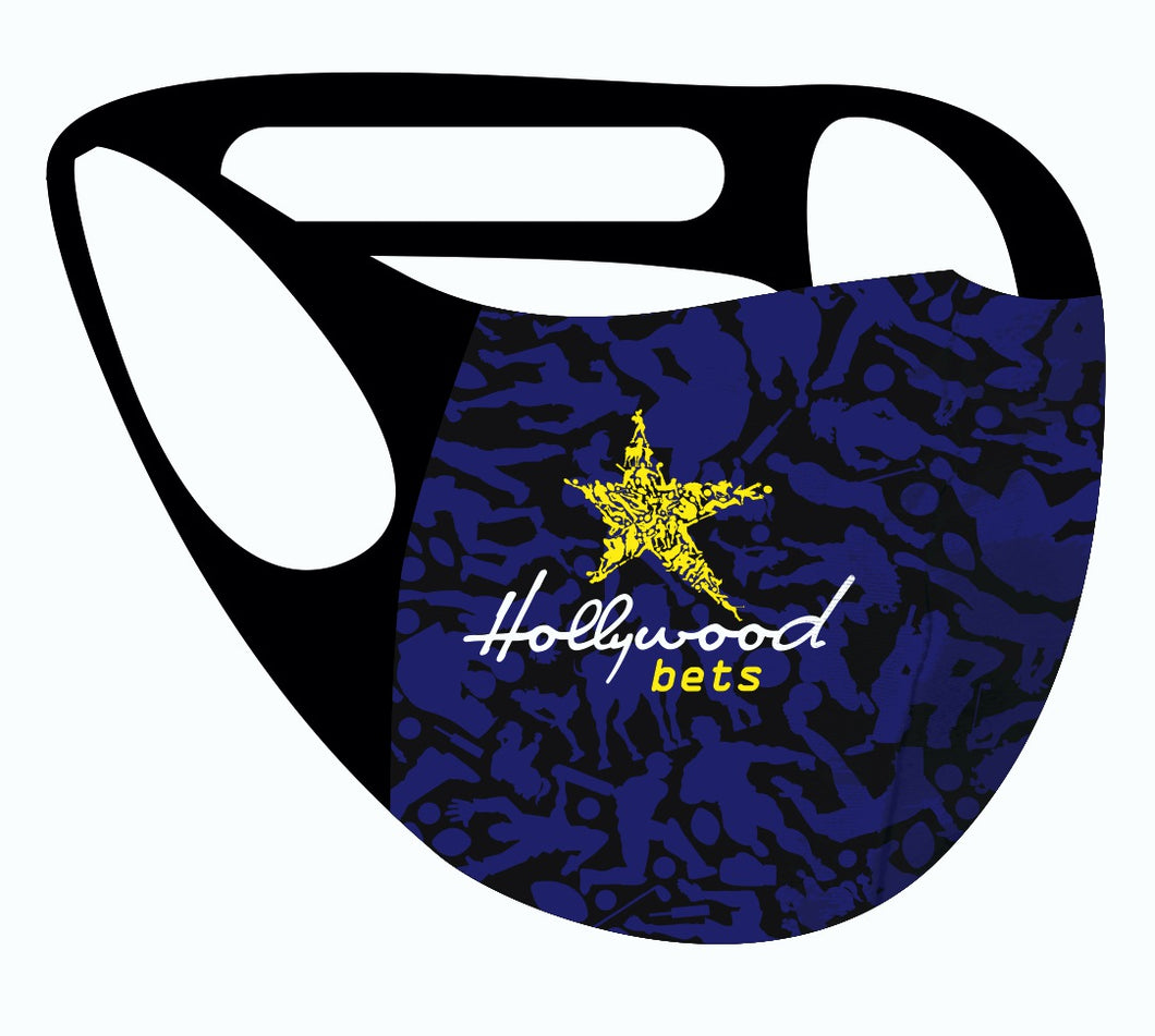 Ultimate comfort reusable face mask Hollywood Bets print