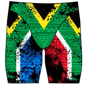 Male jammer swimsuit- South African Flag - DG apparel competitive swimwear lifesaving waterpolo south african flag swimwear triathlon running