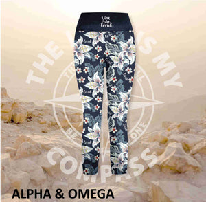 Alpha And Omega Believe Lily Love Athleisure Three Quarter Tights