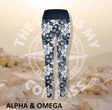 Alpha And Omega Believe Lilly Love Print Athleisure Tights