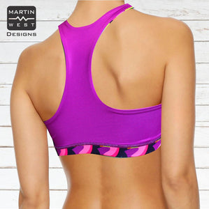 Female Toucan run/paddle/swim reversible Crop Top