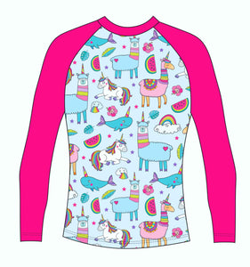 Unicorns Llamas & Rainbows RashVest