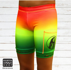 MW Male Bob Marley  run/paddle shorts