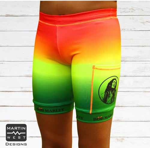 Female Bob Marley  run/paddle shorts