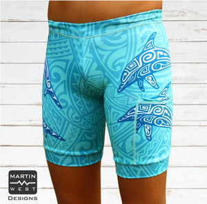 Female Tattoo Dolphin run/paddle shorts