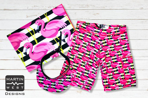Special Male Flamingo run/paddle/swim set