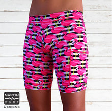 Female Neon Flamingo  Swim/run/paddle shorts