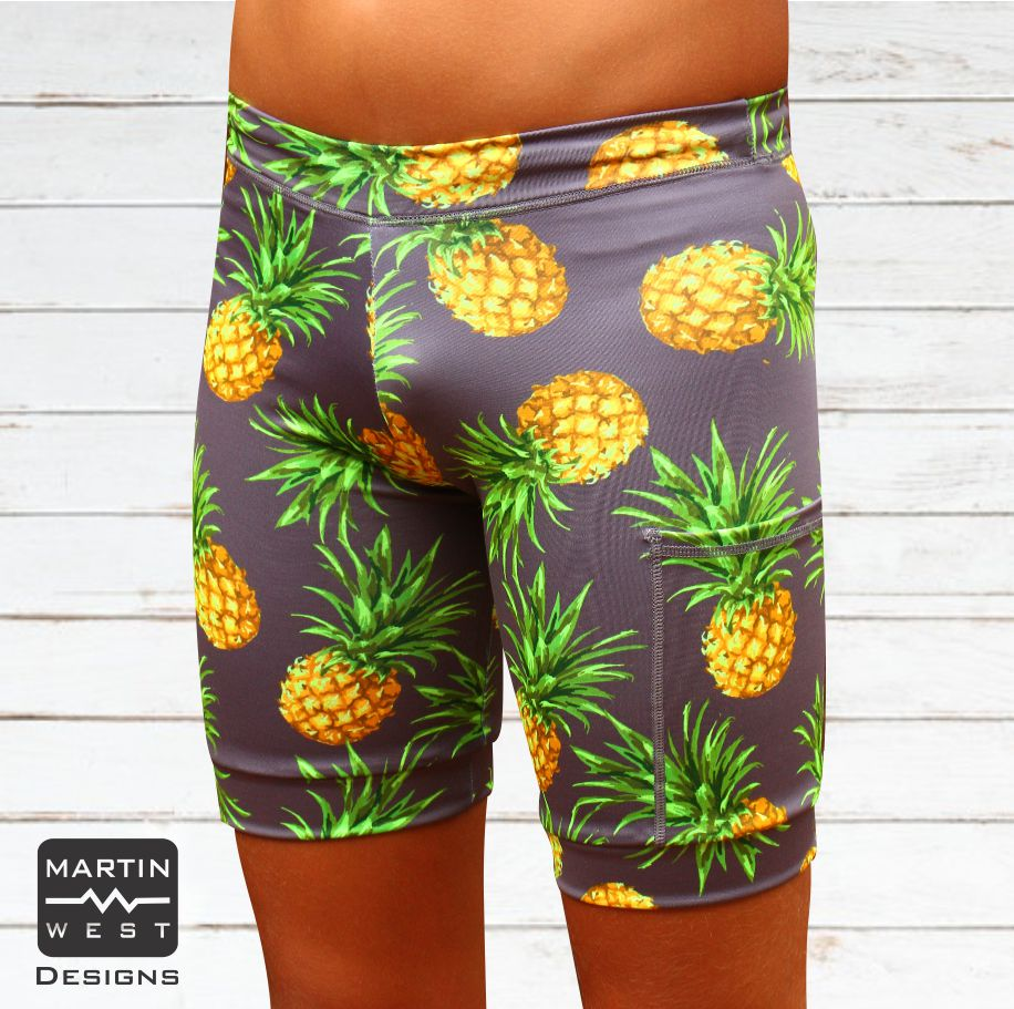 Female Pineapple Swim/run/paddle shorts