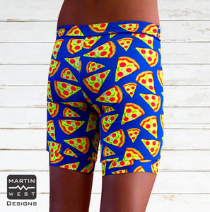 Female Neon Pizza Swim/run/paddle shorts