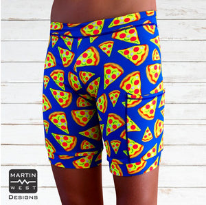 Male Neon Pizza Swim/run/paddle shorts